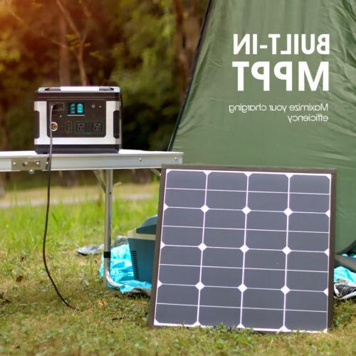 Portable Supply Solar Generator Storage 600W
