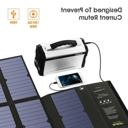 60W Panels Foldable Solar Dual-Port Outdoor