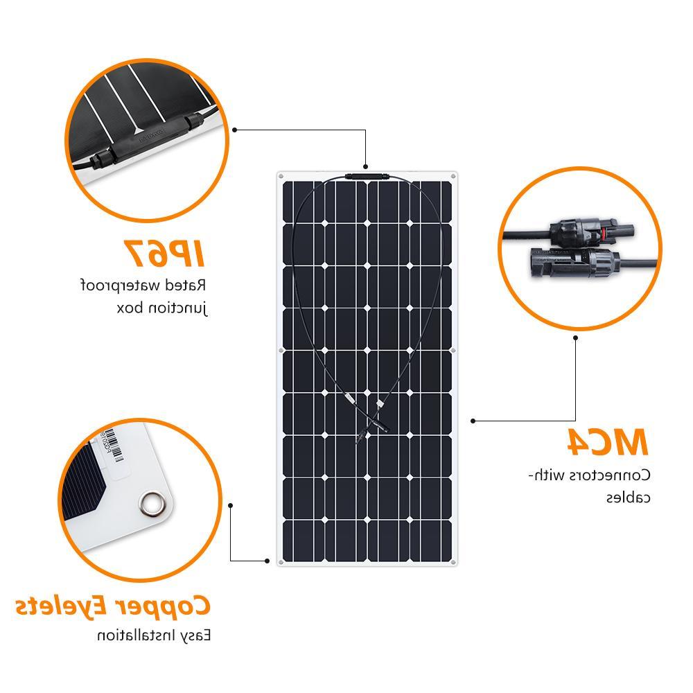 Boguang portable Flexible plate monocrystalline PV 12V photovoltaique