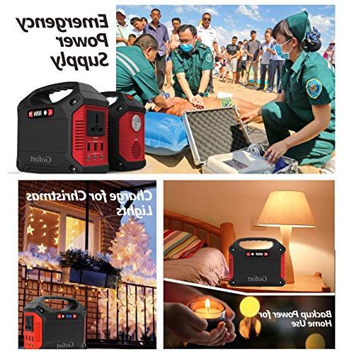 Portable Generator 42000mAh 155Wh Pack Emergency for Camping Charged Panel Wall 110V Outlet DC 12V USB