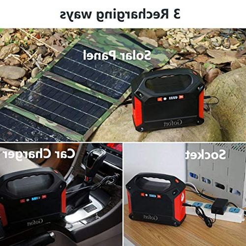 Portable Inverter 42000mAh Pack Power for Outdoor Charged by Wall Car with 110V Outlet
