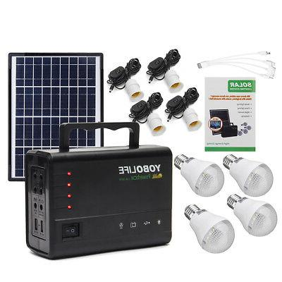 Portable Home Outdoor Solar Power USB