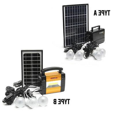 Portable Home Lighting Solar Generator Power System USB
