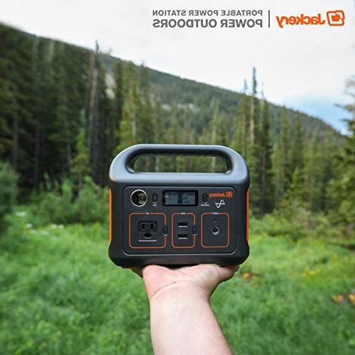 Jackery Generator Explorer 240, 240Wh Emergency Battery, 110V/200W Pure AC Outlet,Solar Camping Fishing
