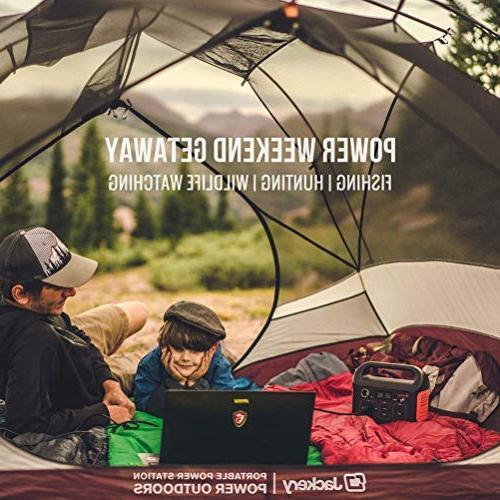 Jackery Generator Explorer 240, Emergency 110V/200W Pure Sinewave Outlet,Solar Generator Camping Travel