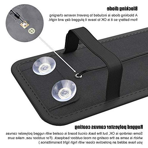 ALLPOWERS 18V Portable Solar Car Battery Bundle Plug, Line, Manual