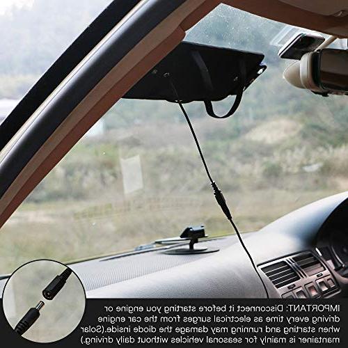ALLPOWERS 18V Portable Solar Battery Bundle Plug, Clip Line, Manual