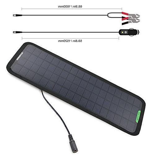 ALLPOWERS 18V Solar Charger Bundle Cigarette Plug, Battery Line, Suction Manual