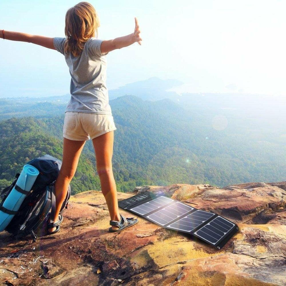Portable Solar Panel Triple USB Ports