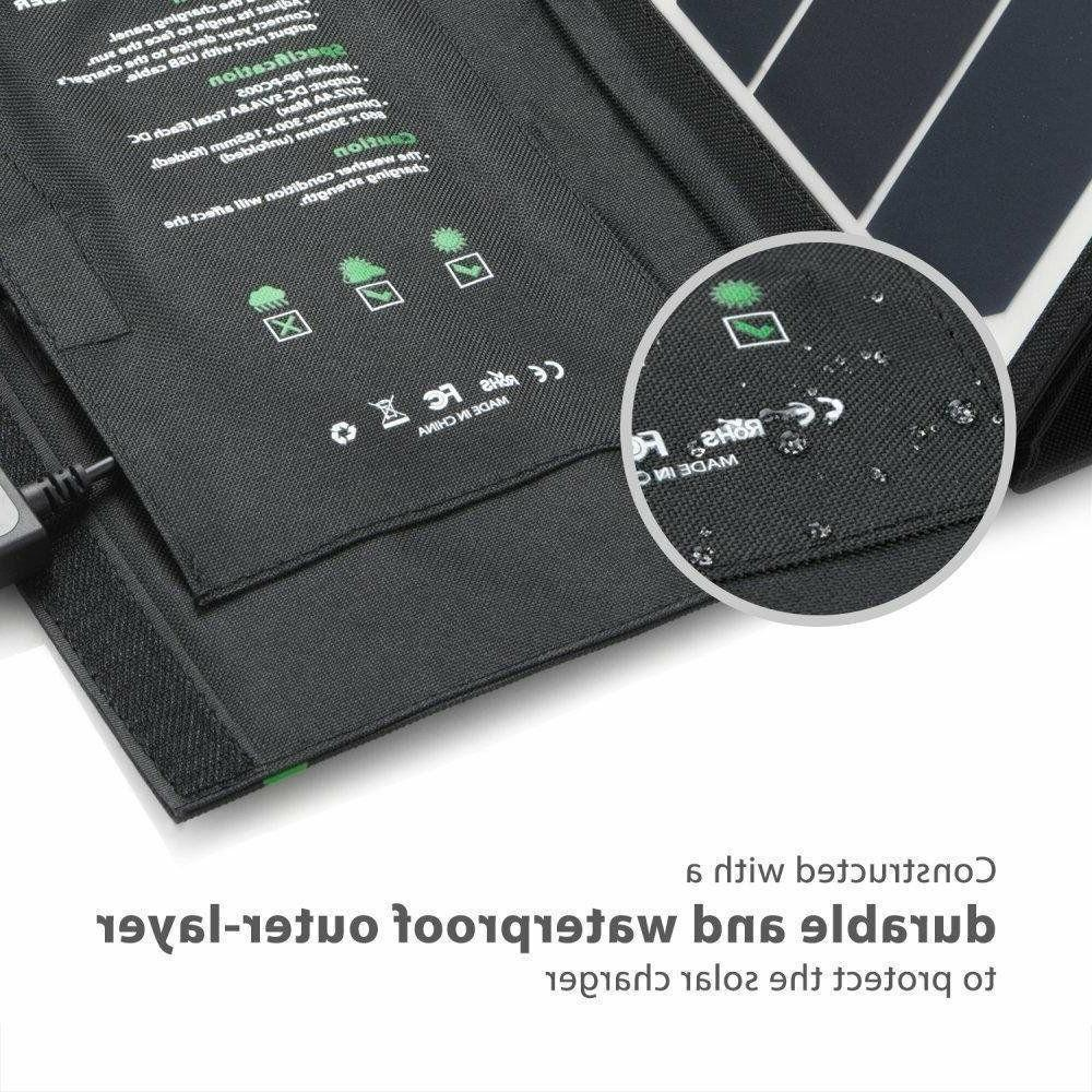 Solar Panel with Triple USB Ports