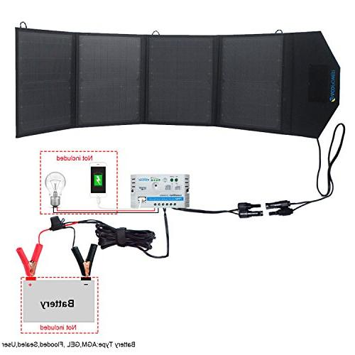 ACOPOWER 12v Solar Waterproof Solar & 5A 5V Cell Phone