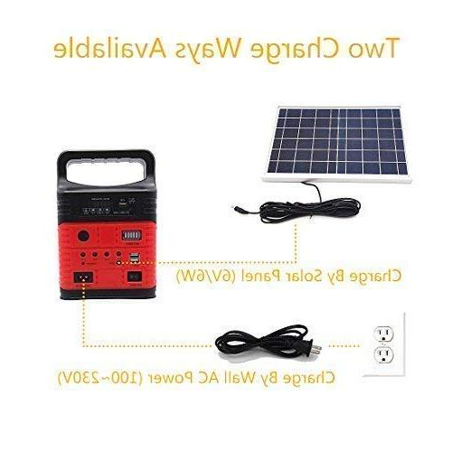 Portable Solar Solar 3 LED Generator,Small Kit,Solar & Fans
