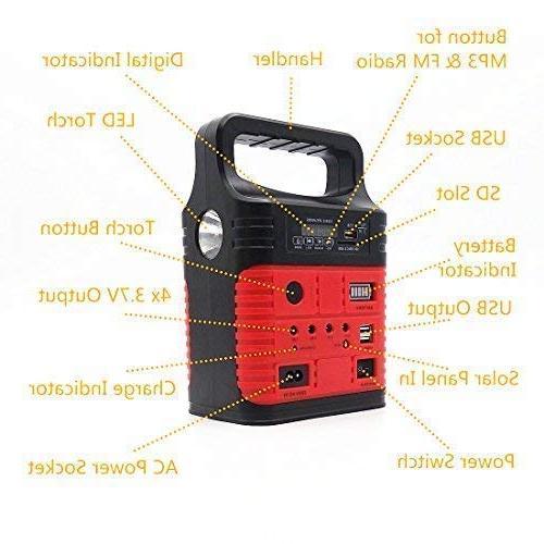 Portable Solar Generator with Solar Panel,Included LED lights,Solar Generator,Small Kit,Solar for & Solar