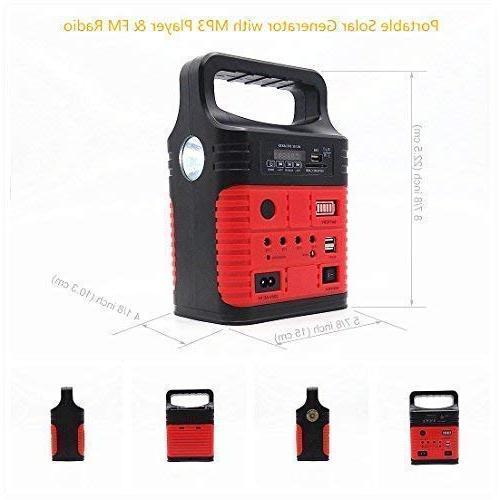 Portable Solar with Solar LED Generator,Small Portable Kit,Solar & Fans