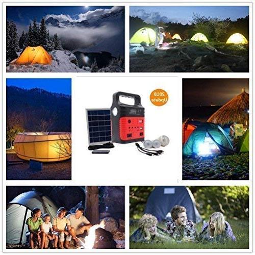 Portable Solar Solar Panel,Included LED lights,Solar Power Inverter,Electric Generator,Small Portable Kit,Solar Home & Fans