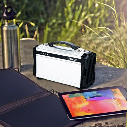 Suaoki 200W 11.1V 20000mAh Solar Generator Power Bank with 6