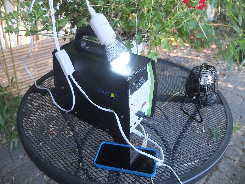 Portable Solar w/Fan/Radio &MP3 Phone Charger