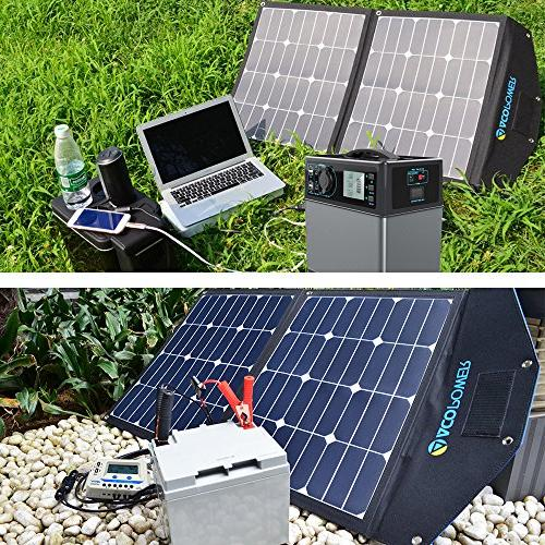 ACOPOWER 80W Panel, Foldable Solar Charger LCD Charge Controller