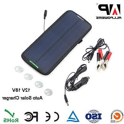 18V 7.5W Waterproof Solar Panel Power Battery Charger Backup