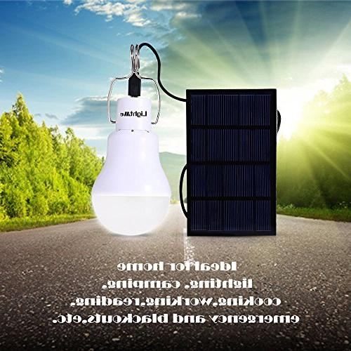 LightMe Solar Powered Outdoor Solar Lighting for Fishing Camping Tent