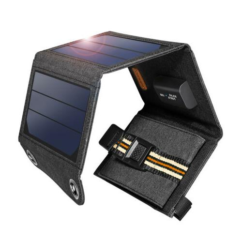 Suaoki 7W Outdoor Solar Charger Portable Solar Panel 5V USB