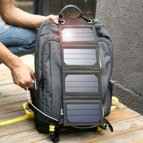 5V Solar Portable Charger f. Phone Camping