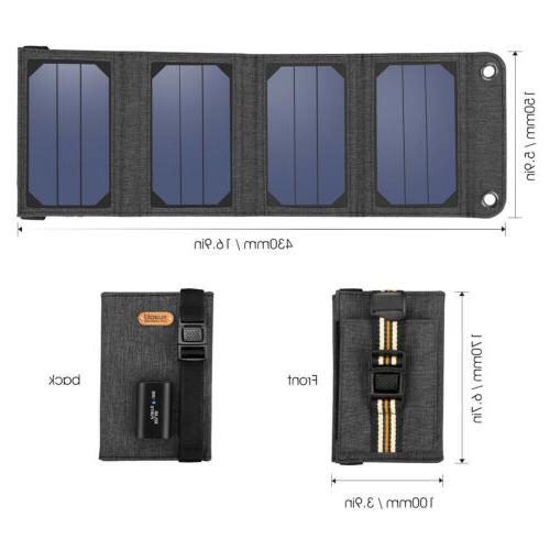 5V 7W Foldable USB Solar Panel Battery Charger f. Camping