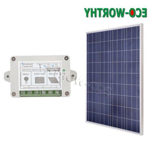 100W 12V Solar Panel Kit with 15A Controller Caravan