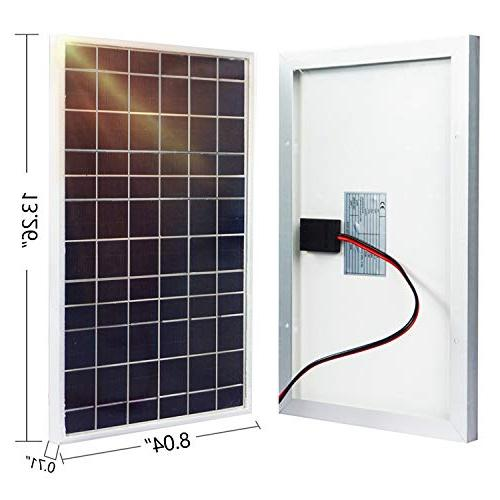 ECO-WORTHY Polycrystalline Solar Panel System W/ Charge Controller & 30A Battery