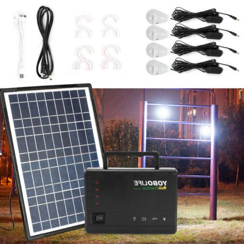 Portable  Solar Panel Power Generator Kit Battery Pack Power