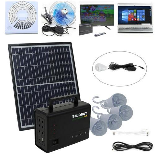 rechargeable solar generator system portable kit power