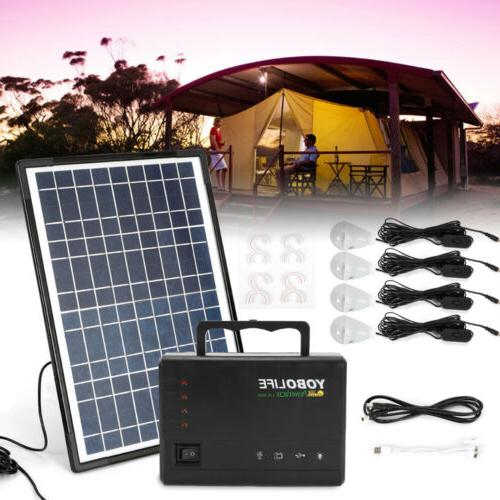 Portable Solar Power Generator Kit Charging Station Supply E