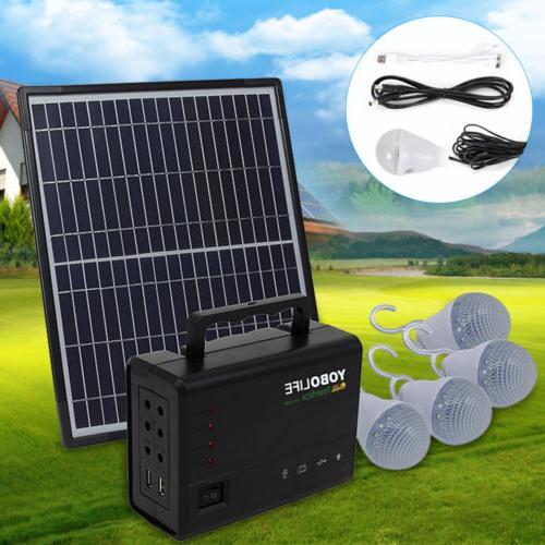 rechargeable portable solar generator kit power inverter