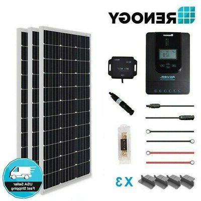 Renogy 300W 12V Mono Solar Panel Premium Kit Off Grid System
