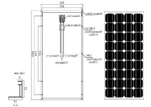 Renogy Monocrystalline Photovoltaic PV Solar Panel Module, Battery Charging