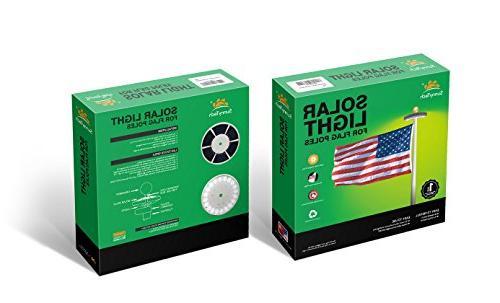 Sunnytech Generation Solar Flag Longest Lasting & Most Flag Lights up Flag 15 to Flagpole for White+Black Shell