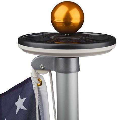 Sunnytech Solar Flag 20led Light,Brightest, Longest Flag Downlight up Flag Most White+Black