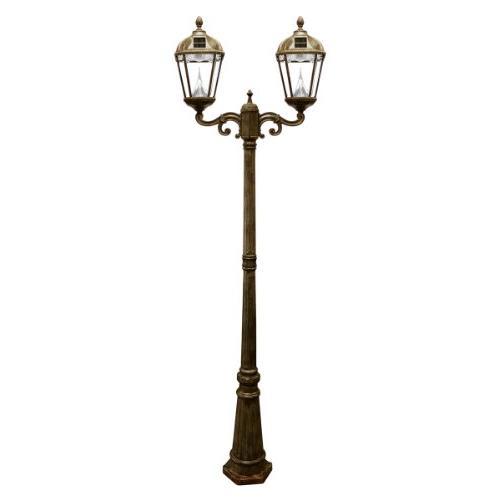 royal solar lamp post double