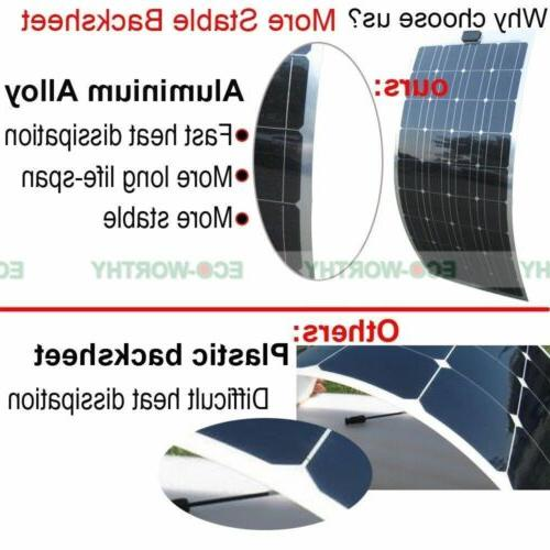 100W 12V Bendable Flexible Mono Panel 15A Camper Car