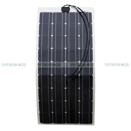 Semi Flexible Panel 150W 100W 40WSolar Power Charge Camping