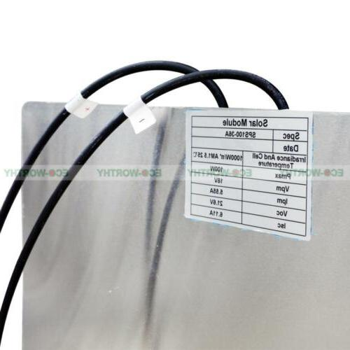 100W Bendable Flexible Mono 15A for Camper Car