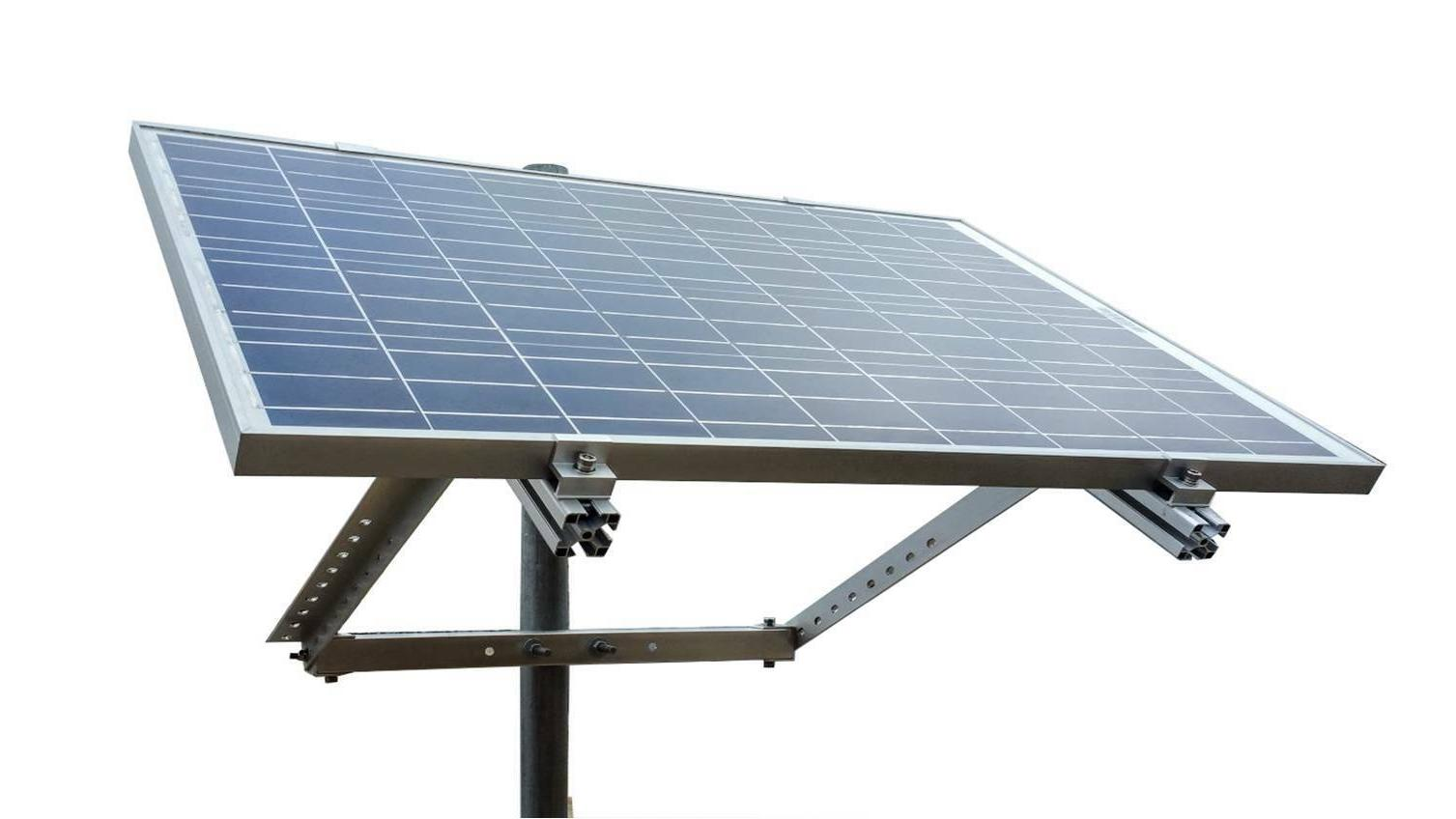 side of pole solar panel mount rack