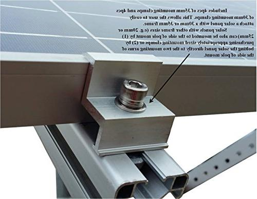 WindyNation Side of Pole Solar Panel for to 120W Solar Panel