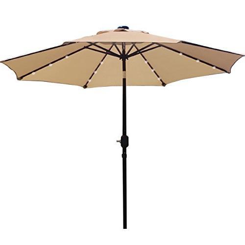 solar 24 lighted patio umbrella