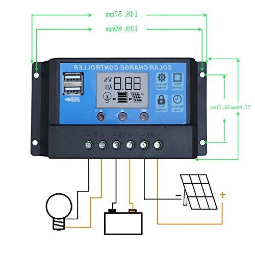 ECO-WORTHY 12 Volt 100 Watt Monocrystalline Solar Kit Charge