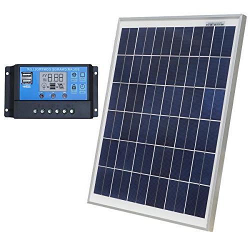 solar battery charging kit polycrystalline