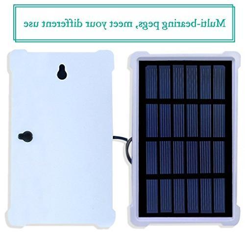 Solar Lights, LED Light Bulb Hiking Fishing Solar Powered Emergency Light S-1500 150LM 1600mA