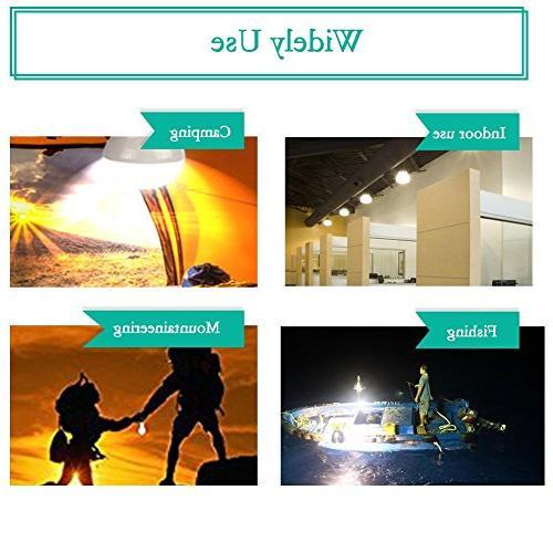 Solar Bulb Lights, LED Lantern Tent Light Bulb Fishing Solar Emergency Light 1600mA