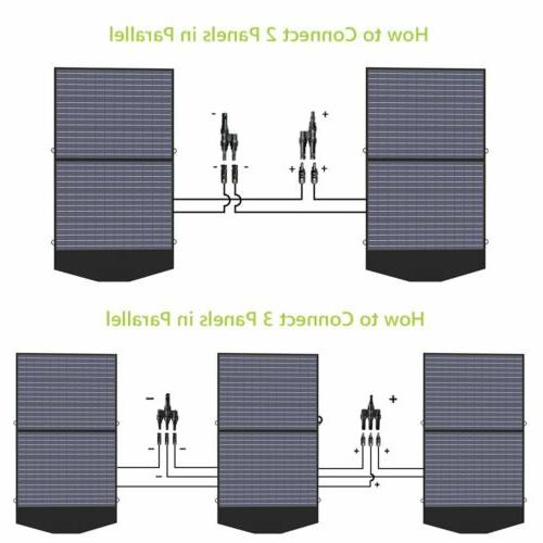 ALLPOWERS Solar Charger 18V100W Foldable Solar Portable Outdoor Camping