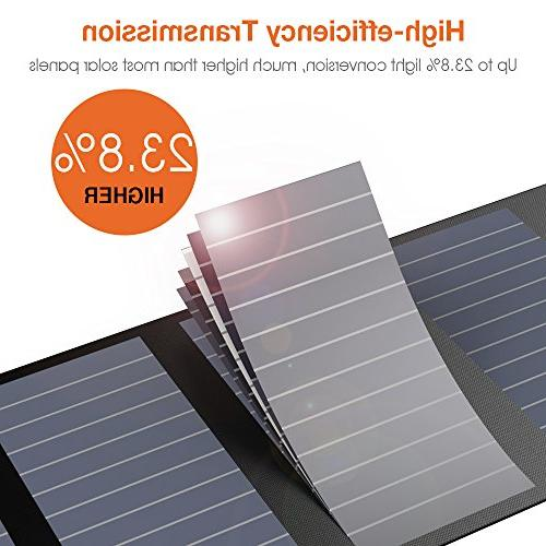 Zanflare Solar 28W Panels with of Ideal for Travel, Camping, Hiking, Travel, Camping, Climbing